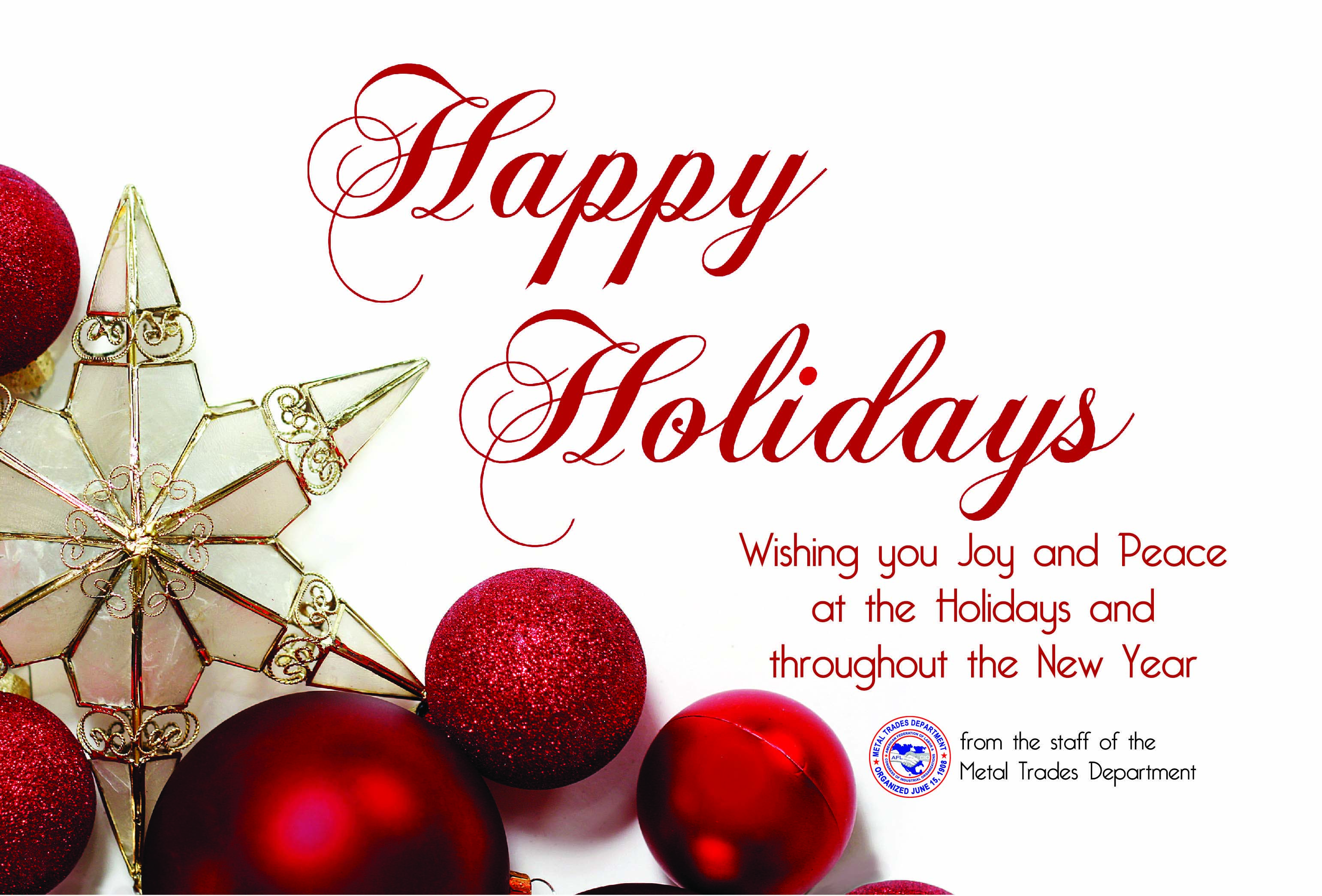 A Holiday Message from MTD President Jimmy Hart