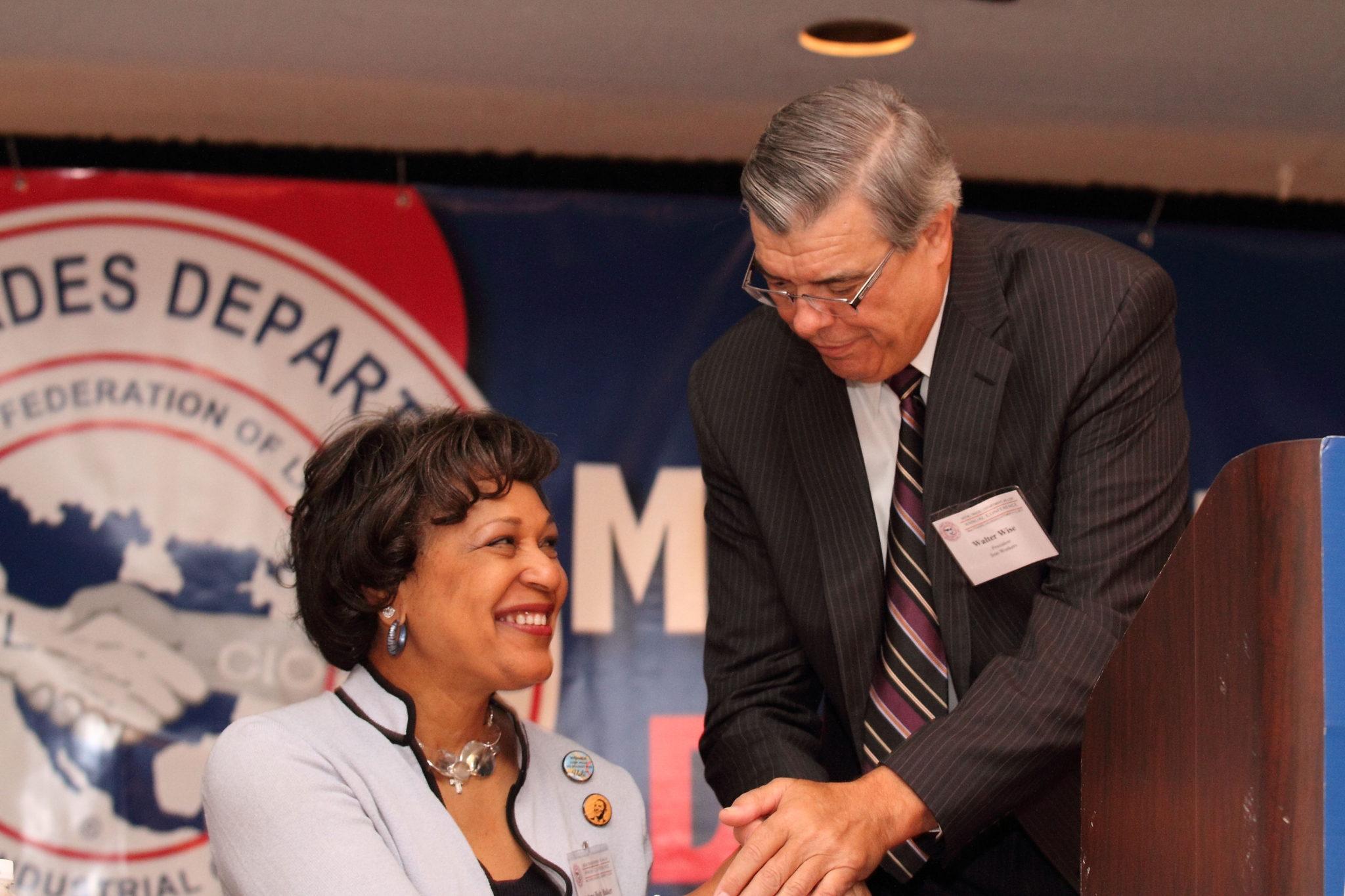 Arlene Holt Baker, AFL-CIO  and Walt Wise