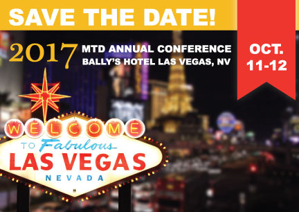 Save the Date! MTD Annual Conference Set for Oct. 11-12