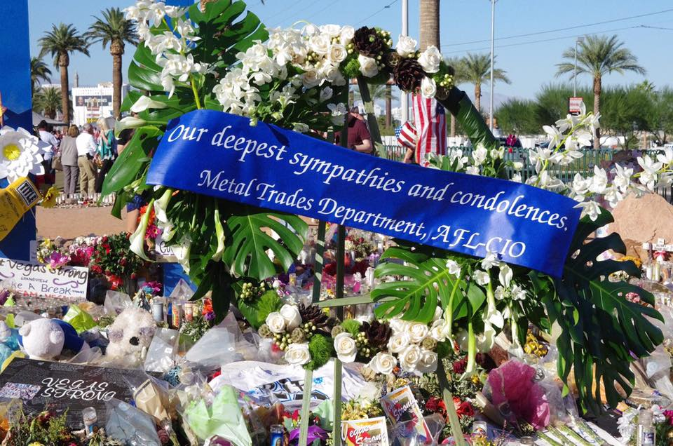 MTD Visits Vegas Strong Memorial