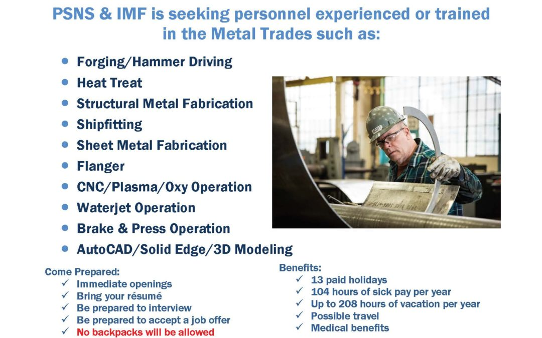 Puget Sound Naval Shipyard & Intermediate Maintenance Facility Direct Hire Job Fair