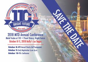 Save the Date! 2018 Metal Trades Department Annual Conference
