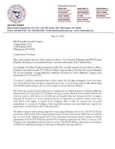 MTD President Pens Letter in Support of Congressman Courtney's Efforts to offer Bipartisan Amendment to FY19 House Defense Appropriations Bill