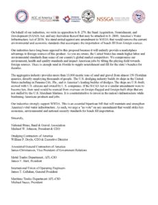 MTD, Industry Partners Oppose Sand Acquisition, Nourishment, and Development (SAND) Act
