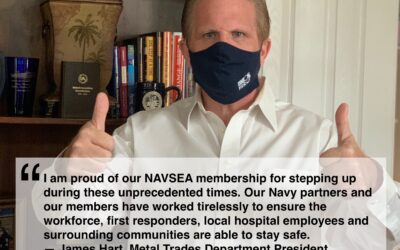 When Supply Lagged, NAVSEA Metal Trades Shipyard Workers Stepped Up to Make Half-a-Million Masks for First Responders, Peers