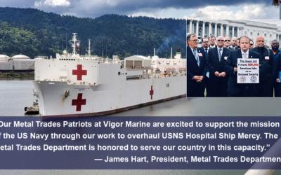 Metal Trades Patriots to Overhaul US Naval Hospital Ship Mercy
