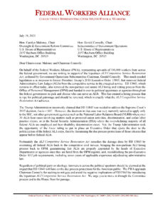 FWA Pens Letter in Support of ALJ Competitive Service Restoration Act
